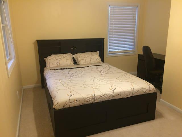 Bedroom-3 in 3rd-floor with Queen bed and desk