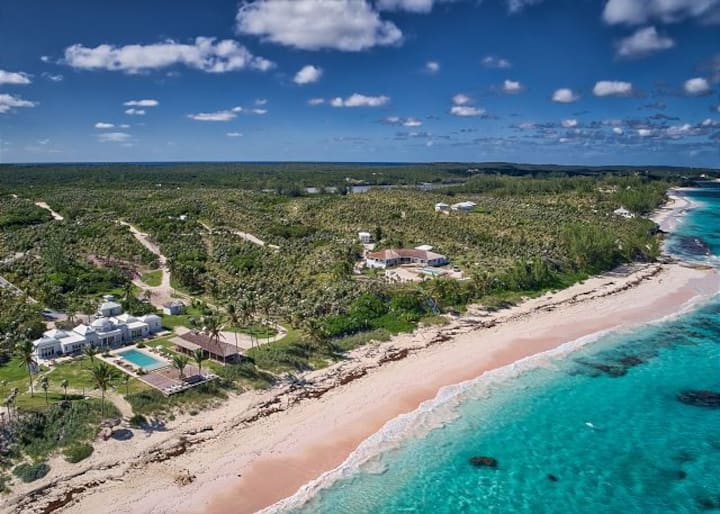 Impeccable Oceanft Estate on 1200 ft Pink Sand Bch