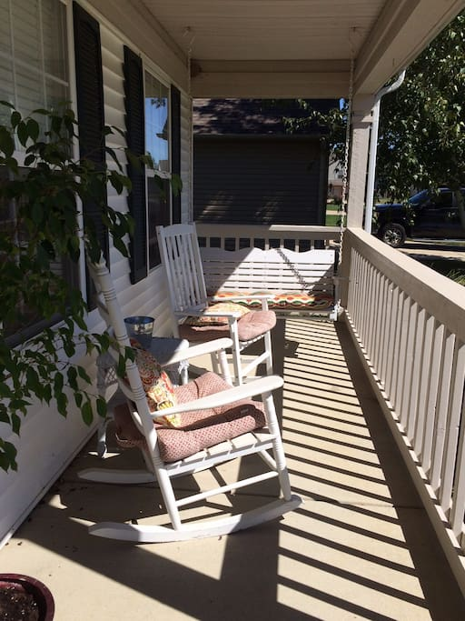 Enjoy rocking or swinging on the front porch!