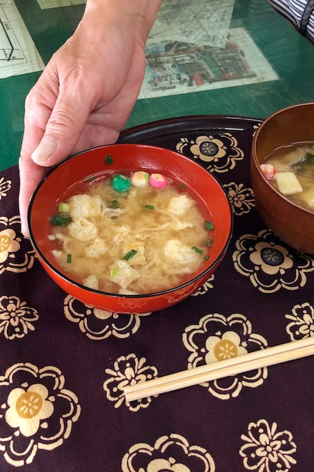 Miso soup made by Japanese mum