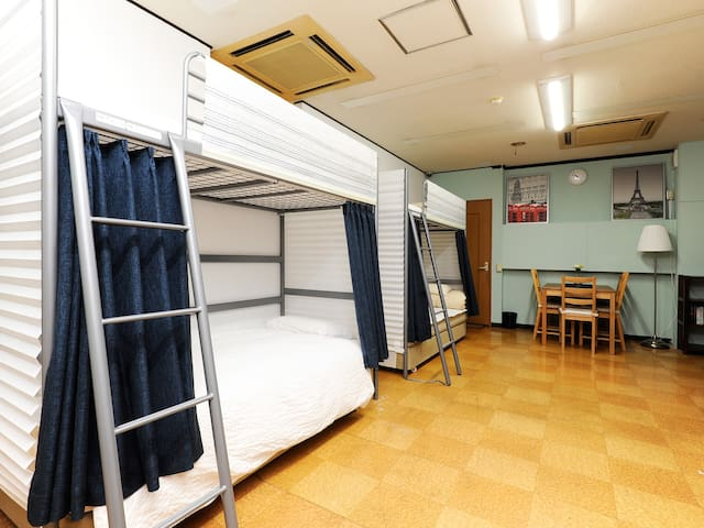 SKU#106 Upper Bunk bed near Namba area - Naniwa Ward, Osaka - Guesthouse