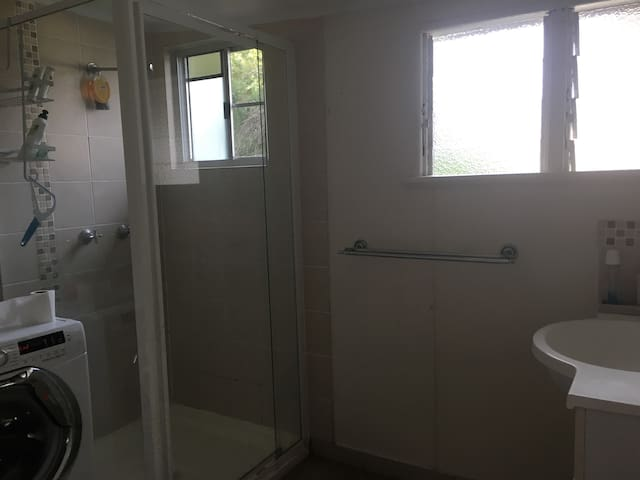 Separate bathroom/toilet with laundry