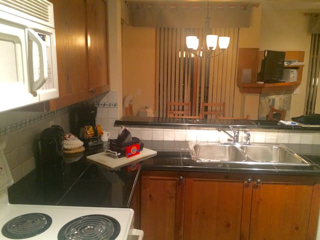 Full kitchen and washer dryer In unit