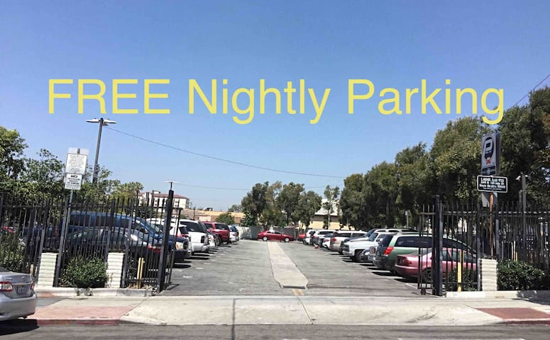 Free nightly parking from 9pm-7am.   At all other times, it's $0.50 an hour or $2.50 for the whole day!