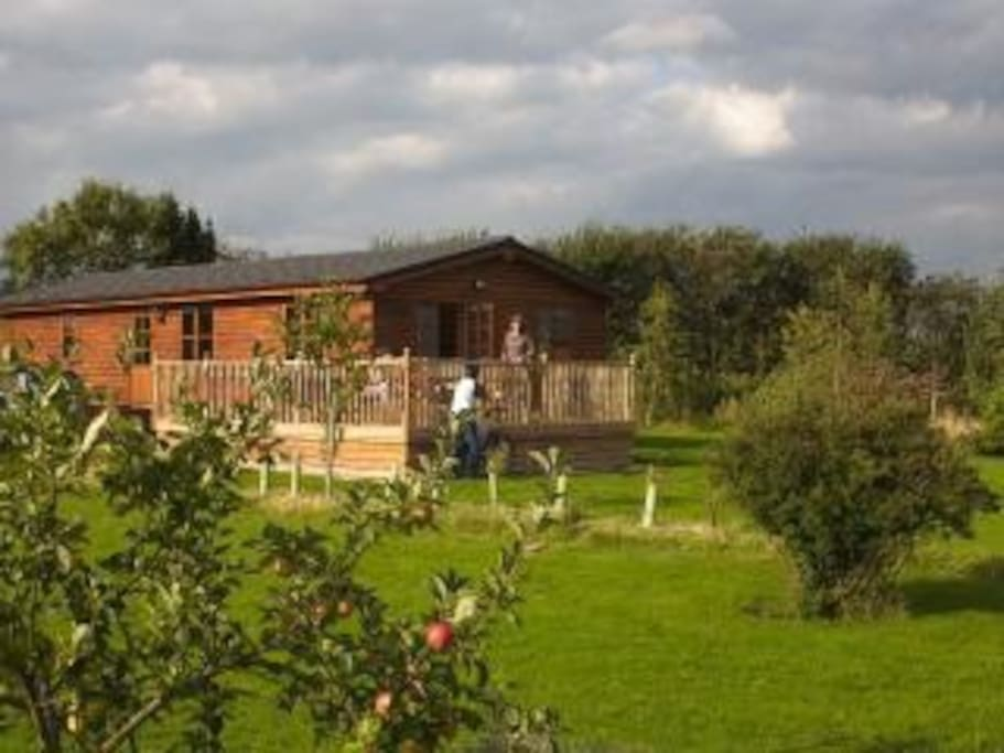 Lodge set in spacious grounds