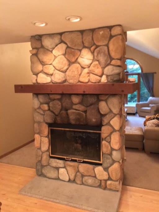 2 sided gas fire place