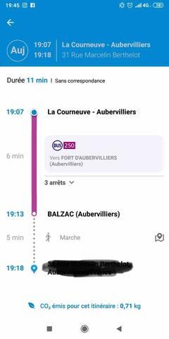 Un autre itinéraire, prendre le RER B descendre à La Courneuve Aubervilliers , prendre le bus 250 , descendre à Balzac.   Another route, take the RER B to La Courneuve Aubervilliers, take bus 250, get off at Balzac.