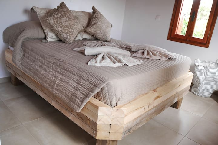 Bed made of rest wood with very good mattress