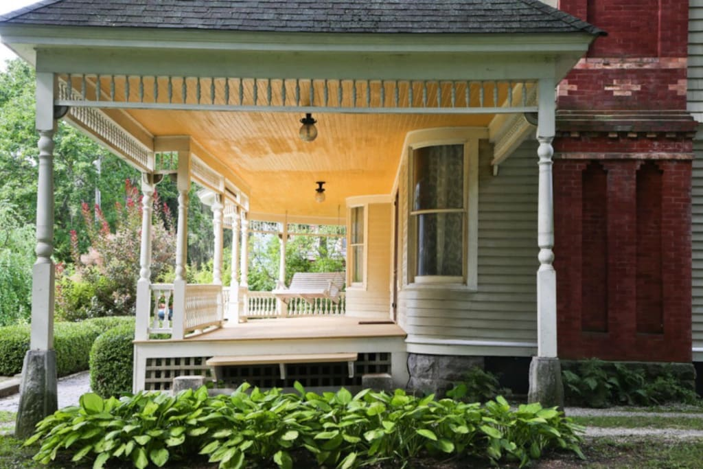 Relax on a number of porches in the center of the Southern Berkshires