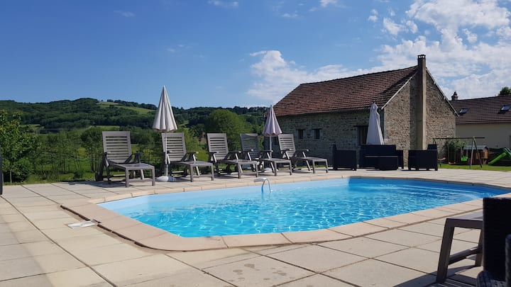 Meadow View Gîtes - Wisteria Cottage (Sleeps 12)