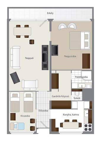 TrendRoom Apartman a centrumban - Eger - Pis