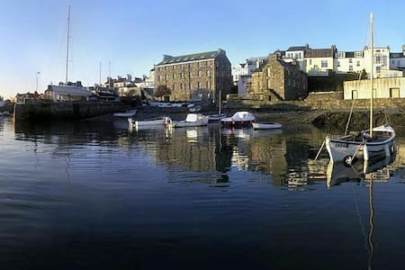 Harbourside nr Ronaldsway and Steam Trains