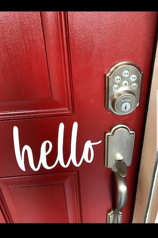 Front door lock pad for easy access!