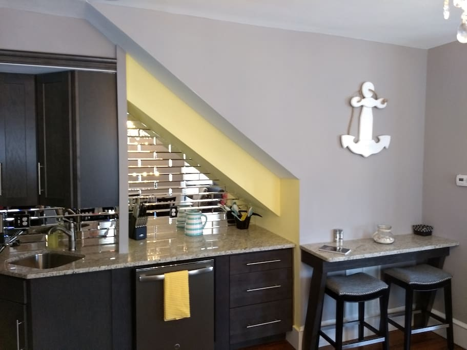Bar area in kitchen for that morning cup of coffee!