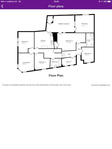 Newly refurbished 5 bed apartment. - Dalkeith - Pis