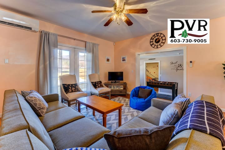 Spacious 3BR w Cranmore Views! 2 Min to Cranmore-Discount Lift Tickets! WiFi! - 44 Bear Puddin