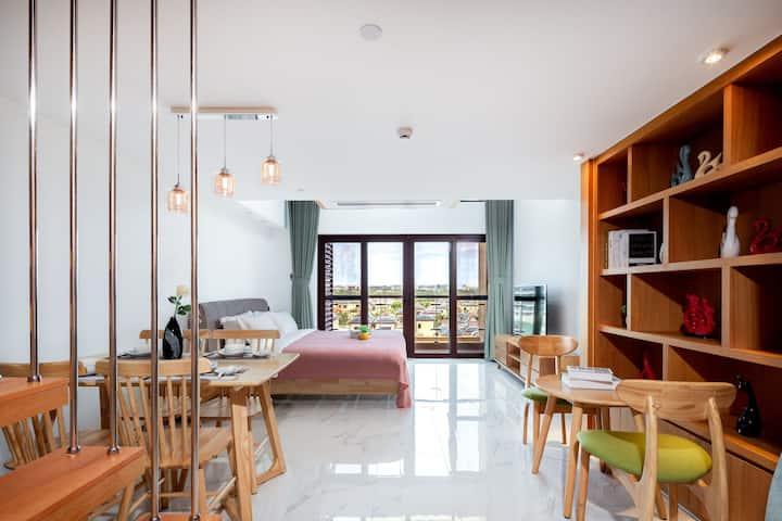亚龙湾现代风格两室一厅loft复式公寓