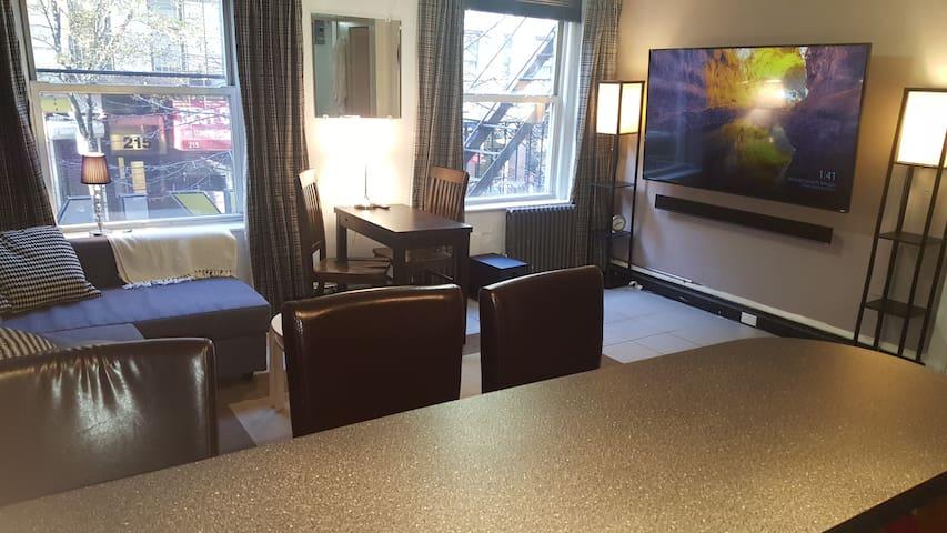 70 inch Smart TV and surround sound