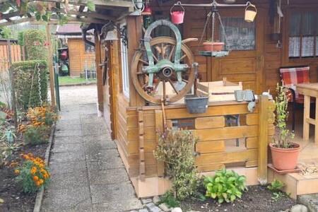 Idyllische Privathütte mit Mod.Aust. + Ruhige Lage