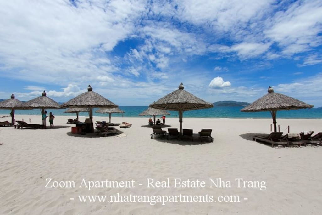 Beach front private for The Costa residences and guests. Free couches and umbrellas