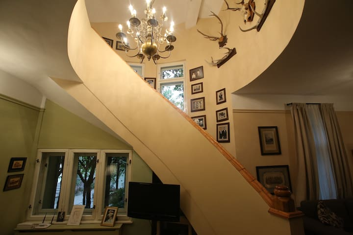 Stair case of the main Ratiu Guest House