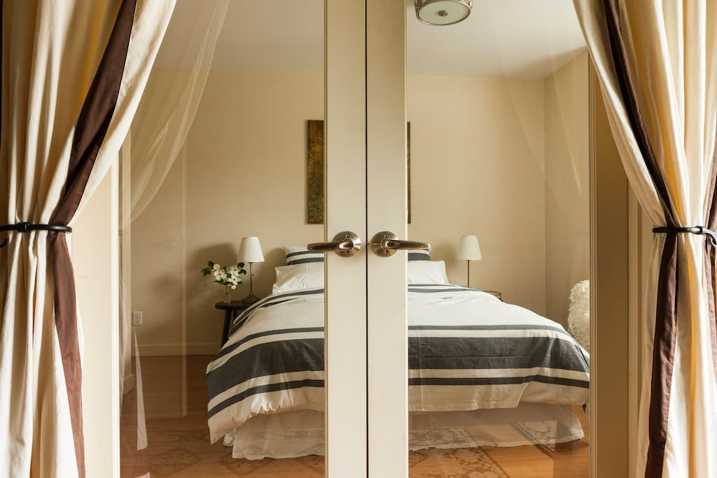 A complete suite with micro, private shower, desk, closet and separate entry.