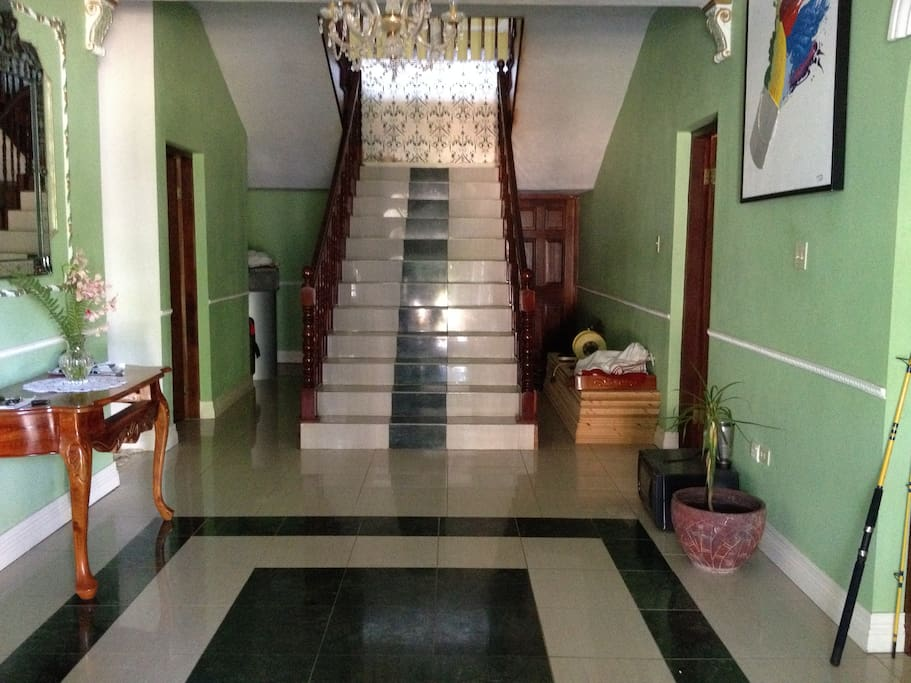 entrance and stairs to upper floor