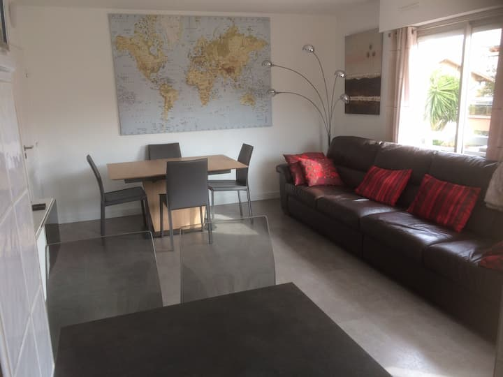 Golfe Juan/Cannes 1 bed apt close to beach