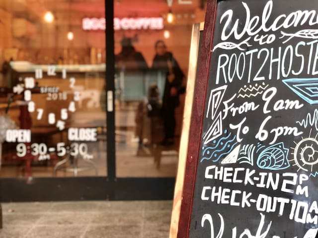 Kyoto station area - Root2 hostel east-