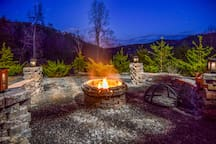 NEW custom made fire pit built January  2018. Amazing View