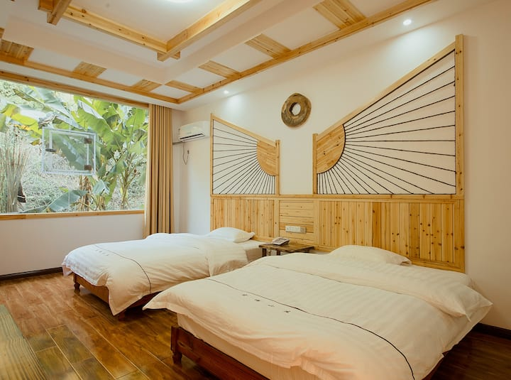 【宏福山庄】标准双床房/武陵源/张家界国家森林公园/门票站免费接送