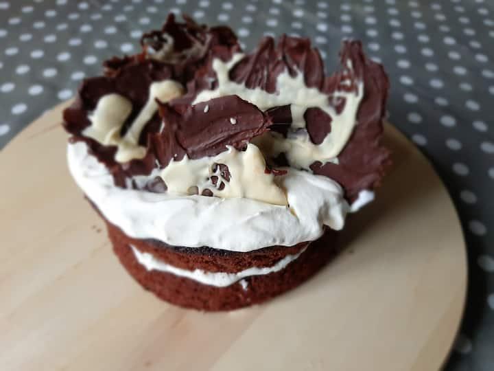 Celebration chocolate lace cake