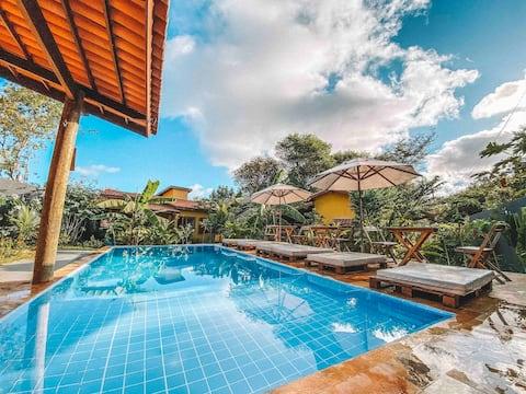 Vila Amarela Pipa cozy house 2 rooms full equiped