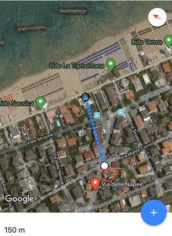 Appartamento a 150 metri dal mare zona centrale