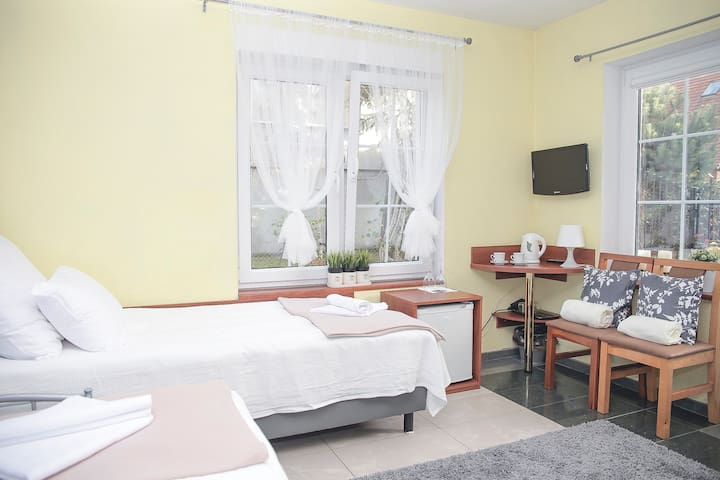 On the beach | TWIN room with a private entrance - Sopot - Huis