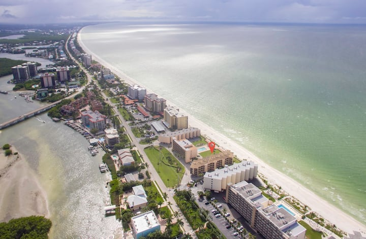 Bonita Beach Condo with Gulf Views, Beach Access and Community Pool!