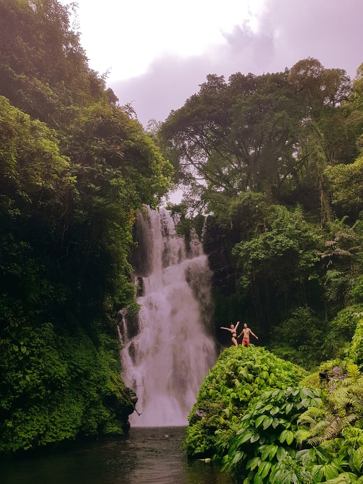 Most picturesque waterfall in Bali