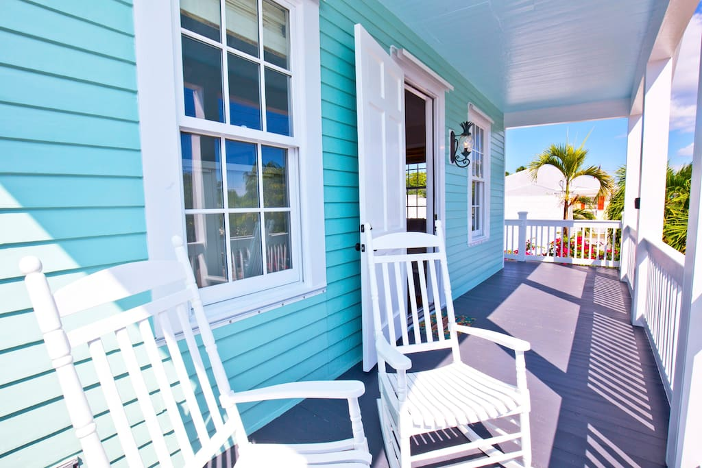 Sit back and relax in these rockers and breathe in the fresh Key West air