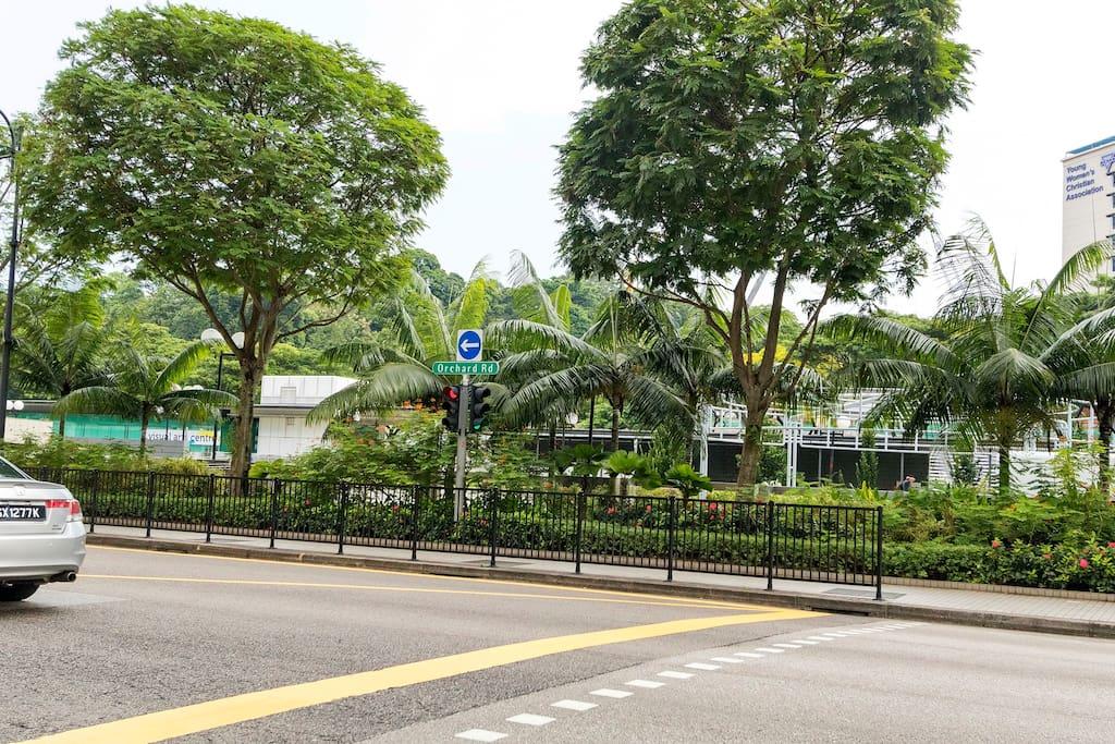 3 mins walk to Orchard Road