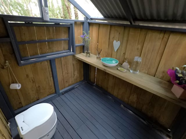 Outdoor camping toilet. Clean, eco and pretty!