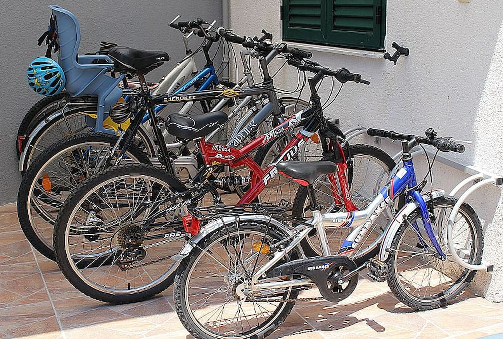 use of bicycles is free of charge