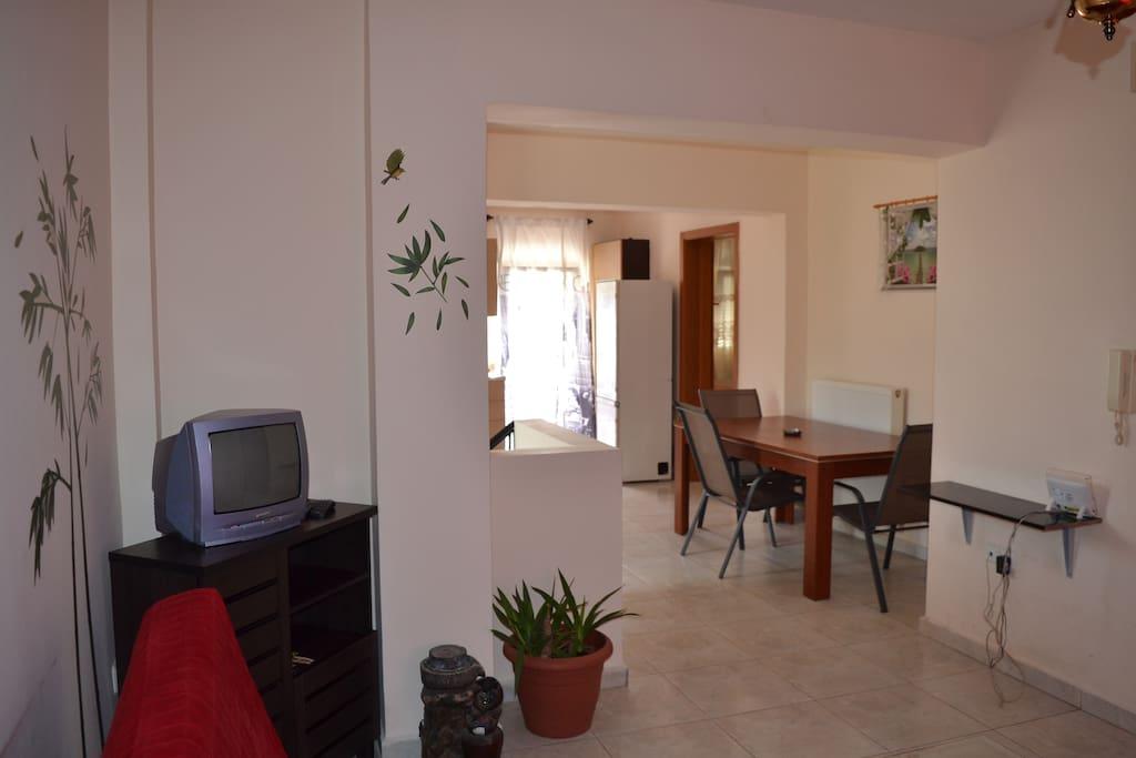 living room, TV, refrigerator, dinning table, free Wi-Fi