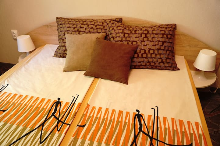 The bedroom offers you a double bed with very comfortable mattress.