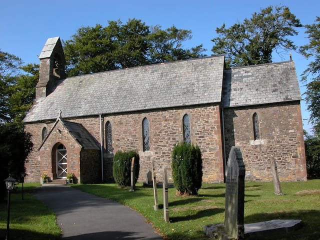 St.Bridget's is a beautifully quaint 12th century church in the heart of the hamlet.
