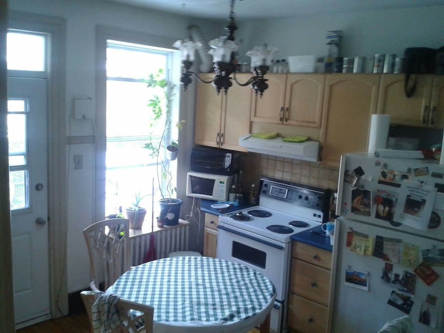 This is the kitchen. Feel free to help yourself with some coffee, tea or cookies :)
