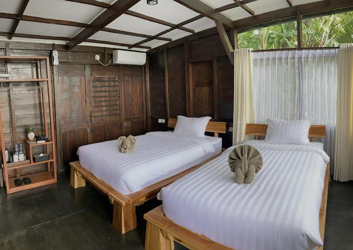 traditional javanese room with nature touch