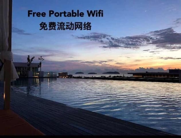 Infinity Pool 1013 City center Free Wifi 两房供宽频