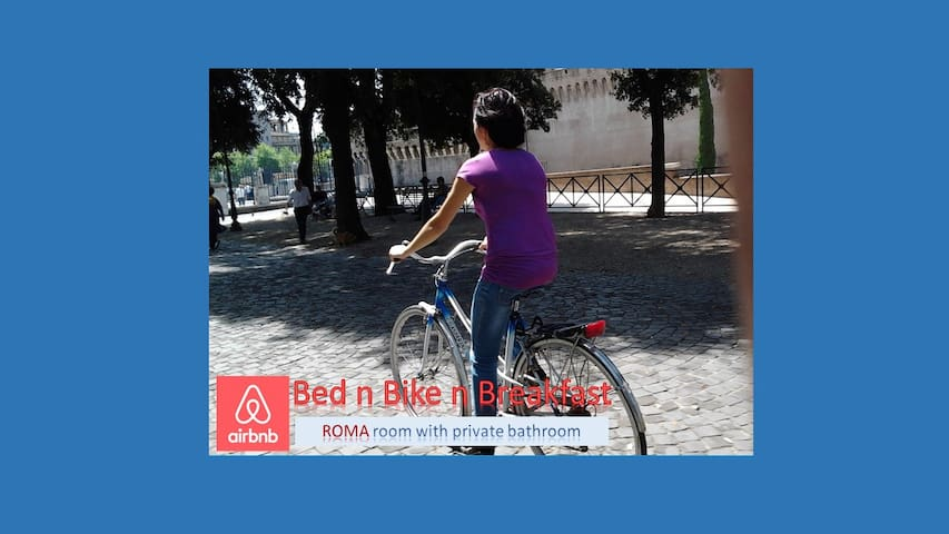 Bed & Bike alla Piramide, private bath.
