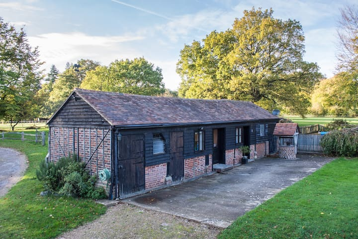 Converted stables in peaceful rural setting