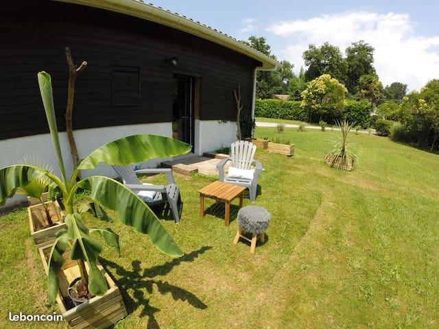 Les Deux Palmiers. Studio rénové 28m2  avec jardin